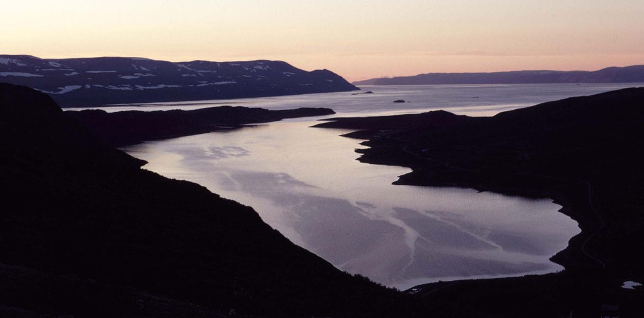 Tarmfjord, inner Tanafjord, East Finnmark, North Norway.