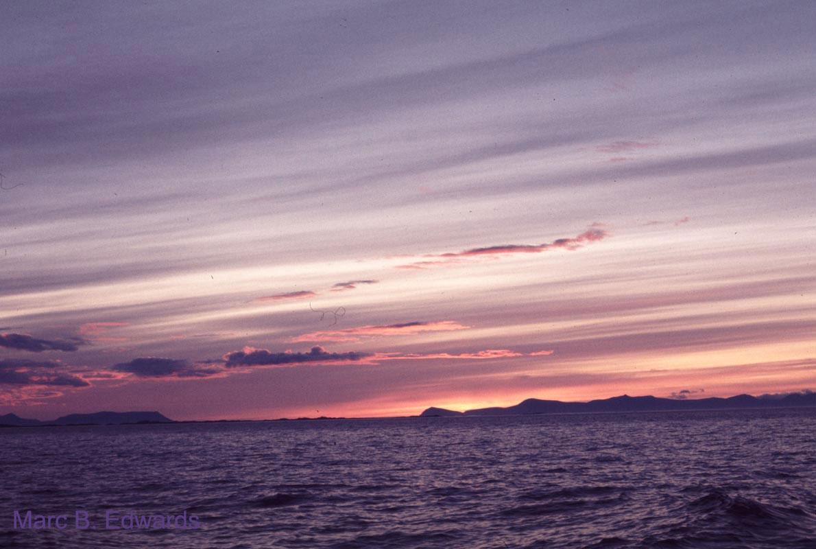 Svalbard sunset, Storfjord.