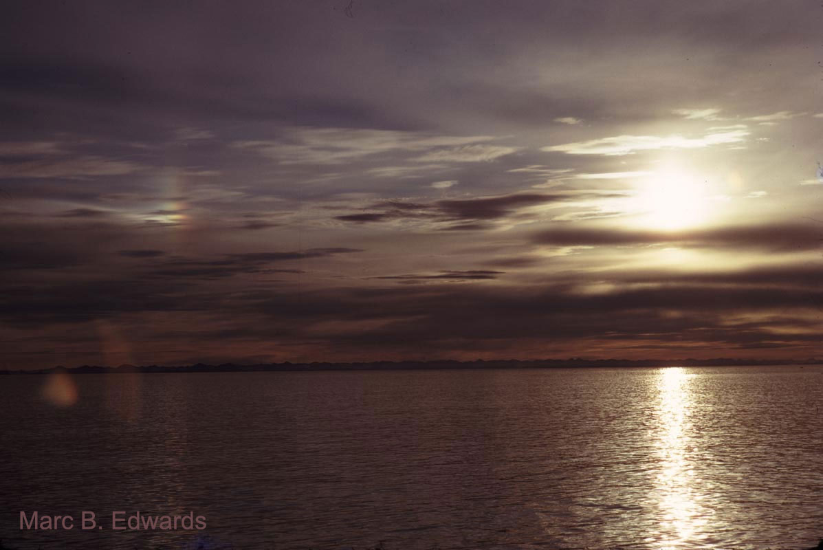 Svalbard sky scene.